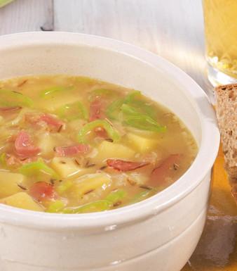 Lauch-Champignon-Suppe mit Käse Rezept   tegut...