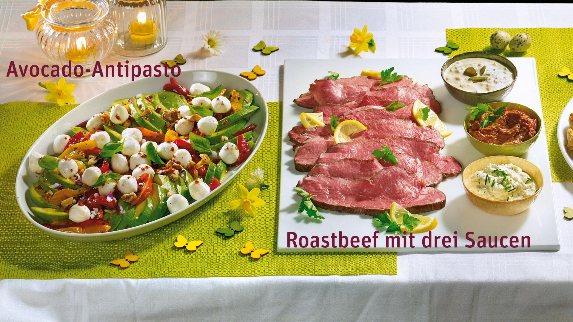 Roastbeef mit drei Saucen Rezept   tegut...