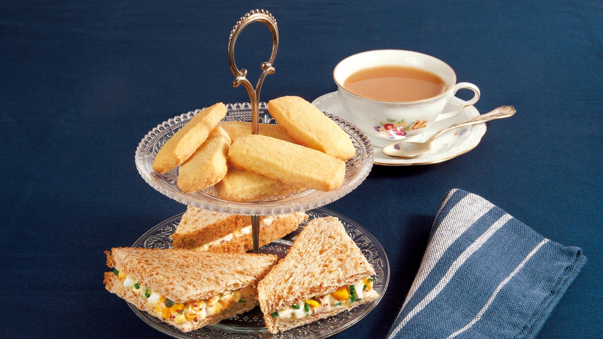 Five o\'Clock Tea mit Shortbread und Eier-Sandwiches Rezept | tegut...
