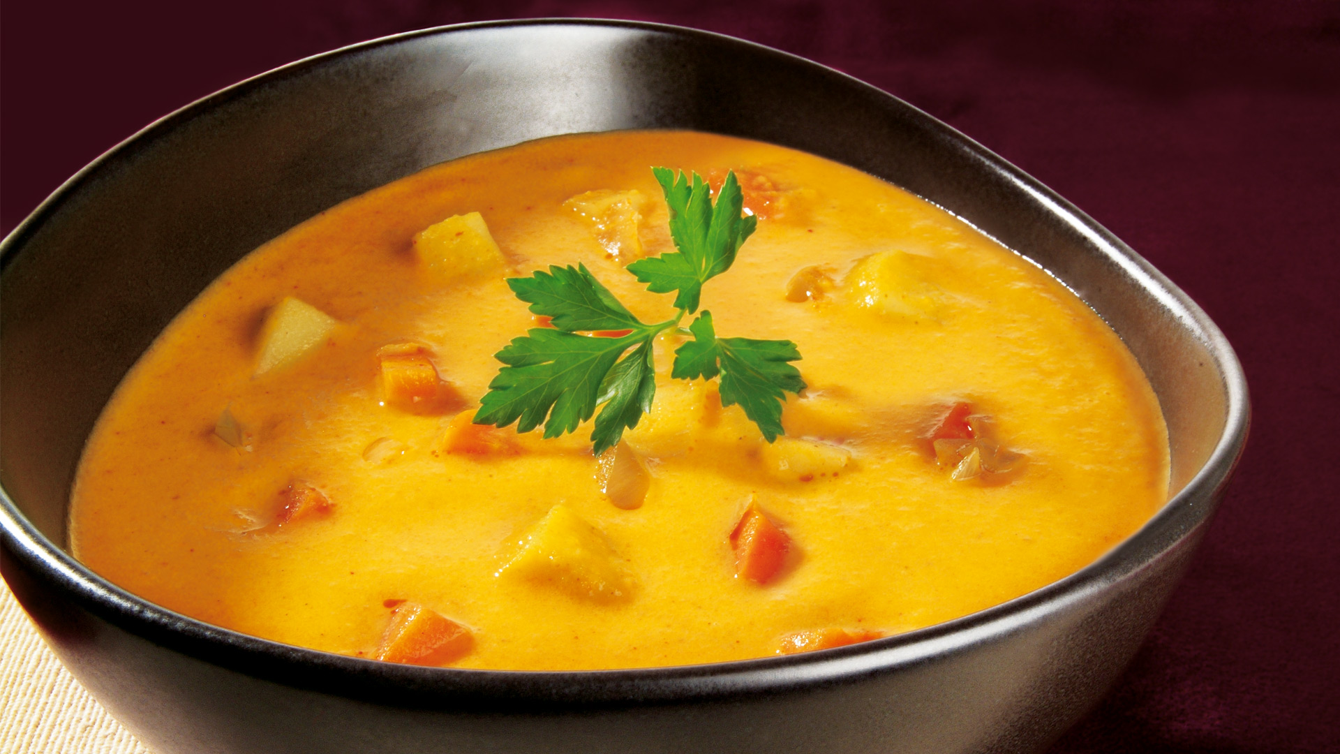 Möhren Kokos Curry Suppe