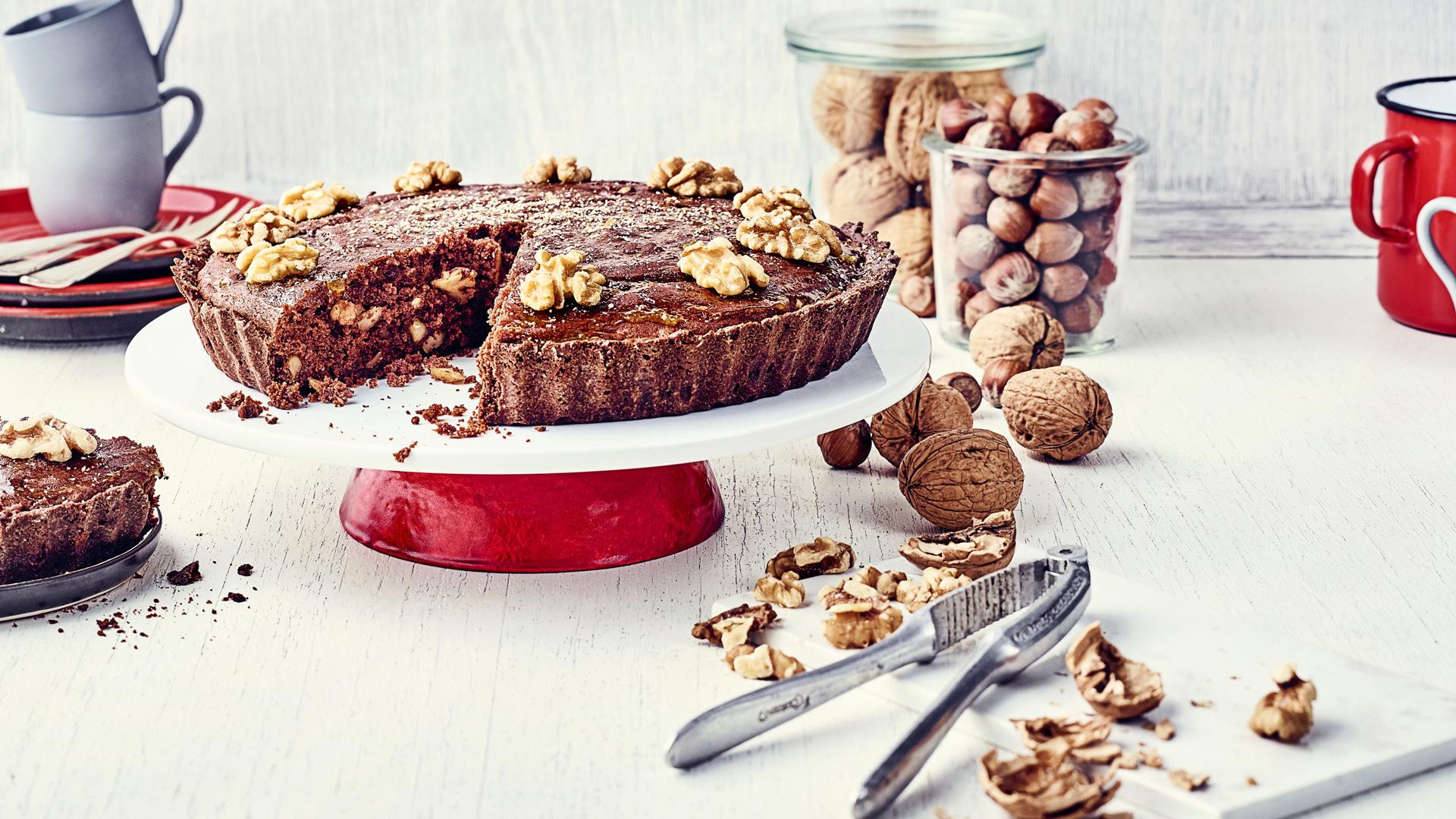 Schoko Walnuss Kuchen Mit Apfelgelee Rezept Tegut