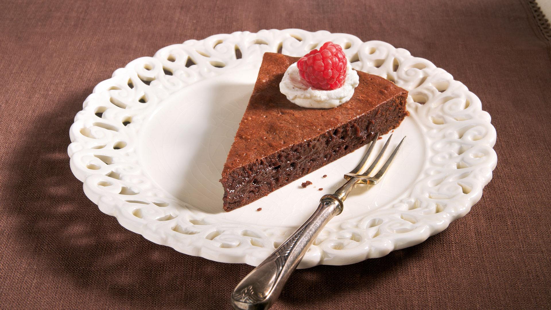 Französische Schokoladentarte Mit Vanillesahne Rezept Tegut