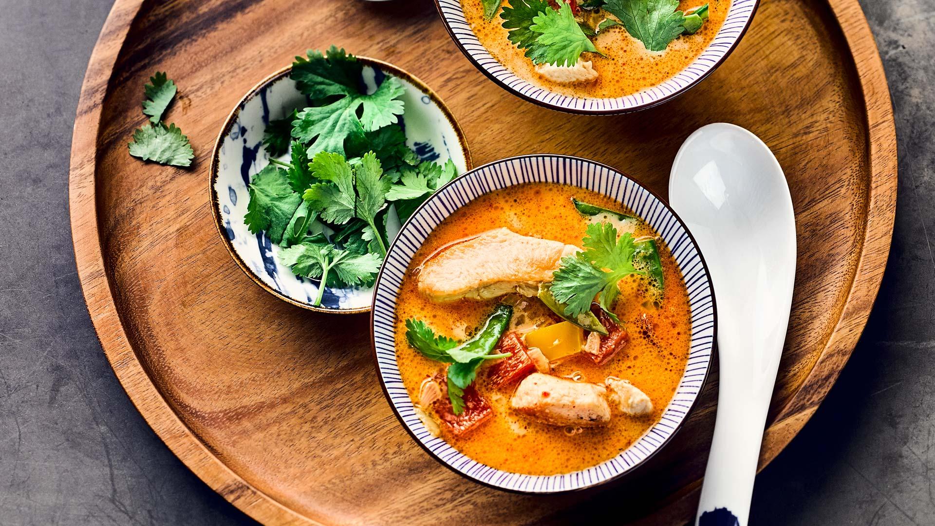 Tom Kha Gai - Thai-Kokosnuss-Suppe