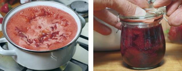 Erdbeeren richtig einkochen