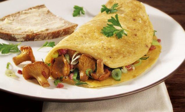 pfifferling omelettes mit petersilie rezept tegut. Black Bedroom Furniture Sets. Home Design Ideas