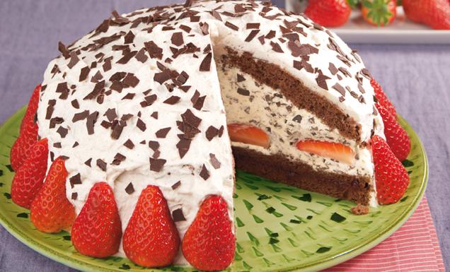 Kuchen mit erdbeer kakao