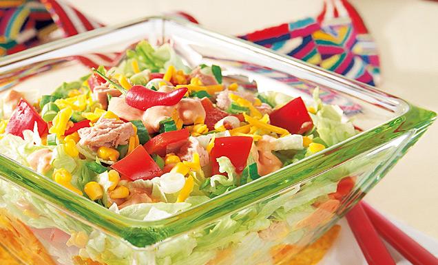 tex mex salat mit tacos und salsa rezept tegut. Black Bedroom Furniture Sets. Home Design Ideas