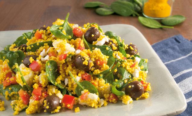 Spinat Und Feta : hirsesalat mit spinat oliven und feta rezept tegut ~ Lizthompson.info Haus und Dekorationen