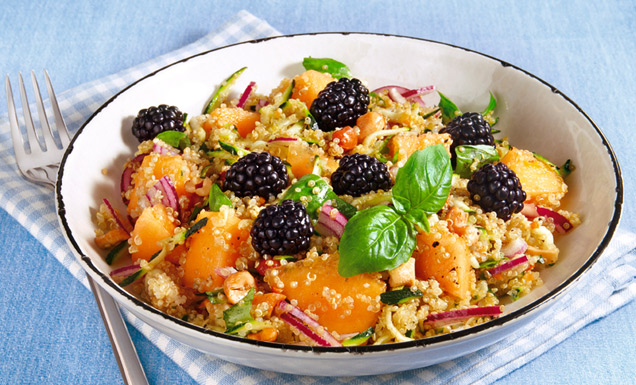 melonen quinoa salat mit brombeeren rezept tegut. Black Bedroom Furniture Sets. Home Design Ideas