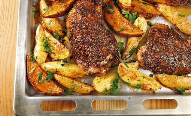 Scharfe 45 minuten h hnchenschenkel rezept tegut for Gute schnelle gerichte
